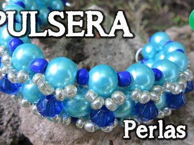 Pulsera perlas turquesas |DIY | Paso a paso