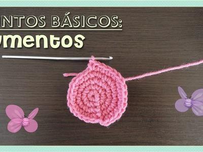Puntos básicos: aumentos - tejido crochet - AMIGURUMI