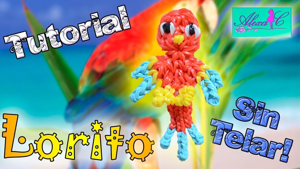 ♥ Tutorial: Lorito de gomitas (sin telar) ♥
