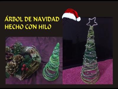 ÁRBOL DE NAVIDAD HECHO CON HILO
