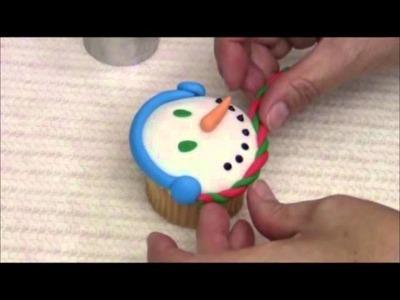 Como Decorar Cupcakes Navideños - Con Fondant - Parte 3