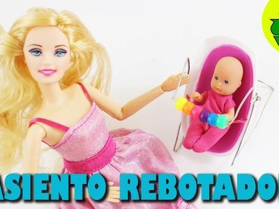 Cómo hacer un asiento rebotador FUNCIONAL para el bebé de tu muñeca - Manualidades para muñecas