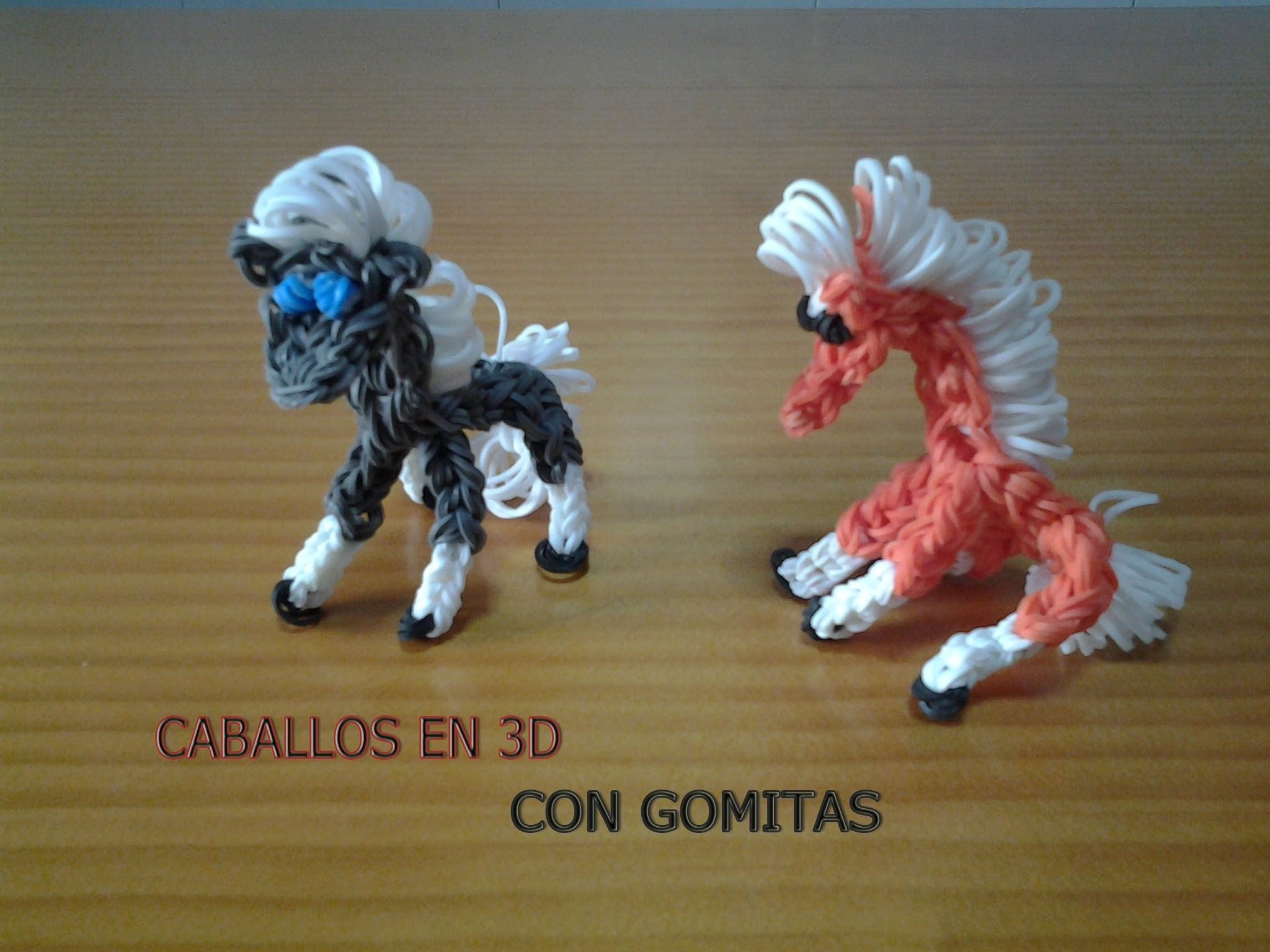 COMO HACER UN CABALLO EN 3D CON GOMITAS (LIGAS) CON TELAR.