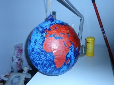 Como hacer un globo terraqueo con un globo