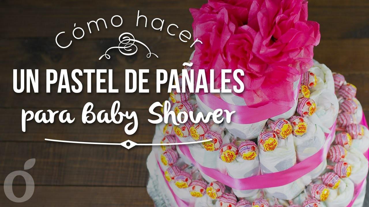 Cómo hacer un pastel de pañales para Baby Shower