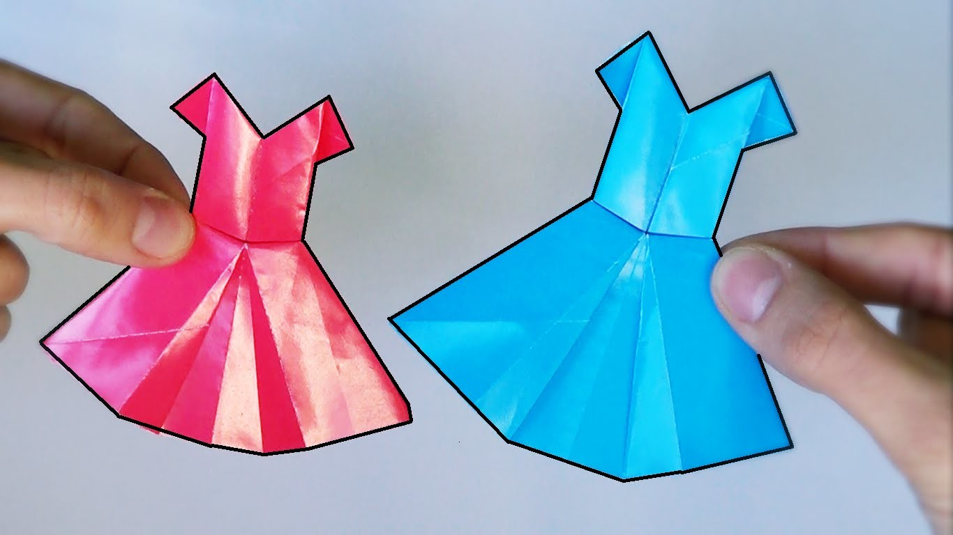 Cómo hacer un Vestido de Papel - Origami