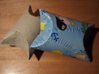 Como hacer una cajita reciclando tubos de carton de papel higienico