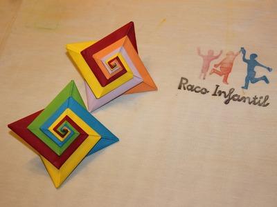 Cómo hacer una espiral de colores en Origami