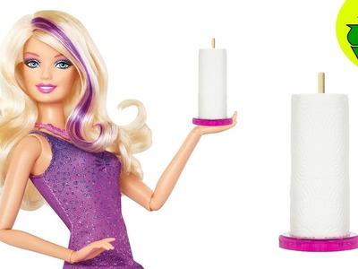 Cómo hacer una toallas de papel y su soporte para tus muñecas - Manualidades para muñecas