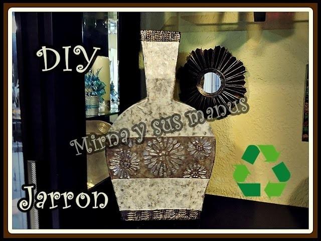 Como realizar un jarron de carton. 2da. parte.How to make a vase of cardboard 2da.  part