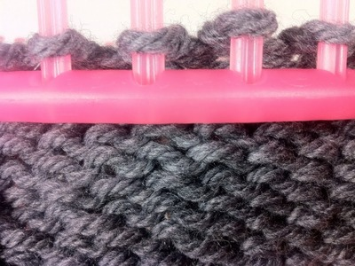 Cómo tejer con telar circular: PUNTO REVÉS