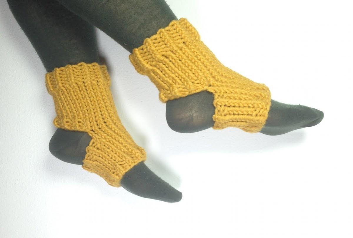 Cómo tejer en telar unos calcetines de yoga (Tutorial DIY)