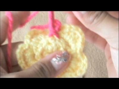 Como tejer flores  (dos capas)