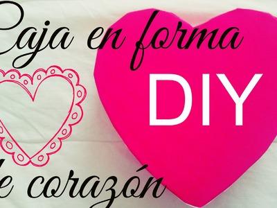 DIY ♡ Caja en forma de corazón ♡ Detalles para San Valentin ♡ Erandy Paz