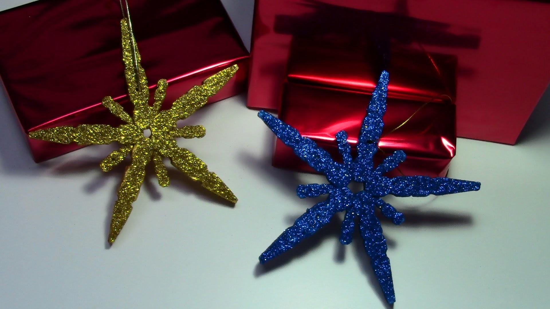 Estrella de navidad con pinzas de madera tutorial . christmas star with wooden pegs