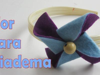Flor decorativa para el cabello - Hebilla diadema - Manualidades para todos