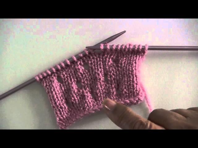 Haciendo lazadas o hebras en dos agujas o palillos (curso básico