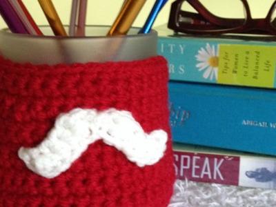 Haz un cubre tazas de ganchillo con un divertido mostacho - Hazlo tu Mismo Hogar - Guidecentral