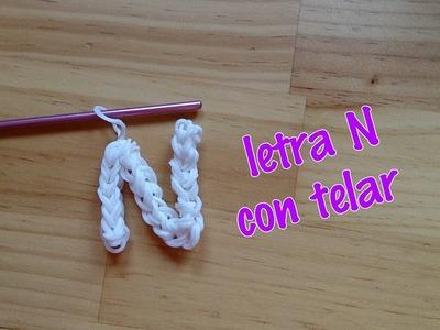 Letra N con telar