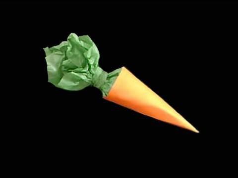 Manualidades de Papel: dulce zanahoria de papel