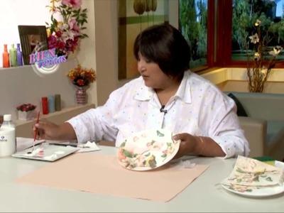 Plato con decoupage y acrílico decorativo premium - Sonia Nuñez en Bienvenidas Tv