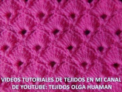Punto abanico tejido a crochet