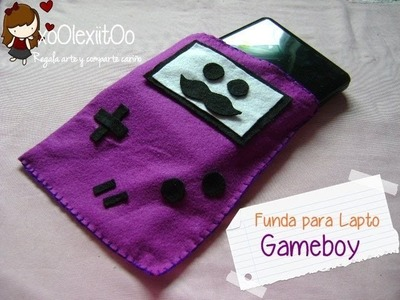 @xoOlexiitOo❥DIY SAN Valentín || ♥ Regalo para novi@ ♥ || Funda para Lapto || Gameboy kawaii