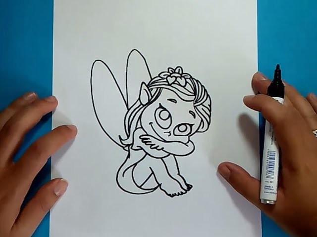 Como dibujar un hada paso a paso | How to draw a fairy