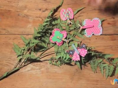 Cómo hacer mariposas con pinzas de ropa
