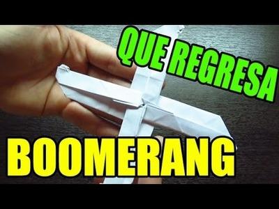 Como hacer un boomerang de papel que regrese de origami (Muy facil)