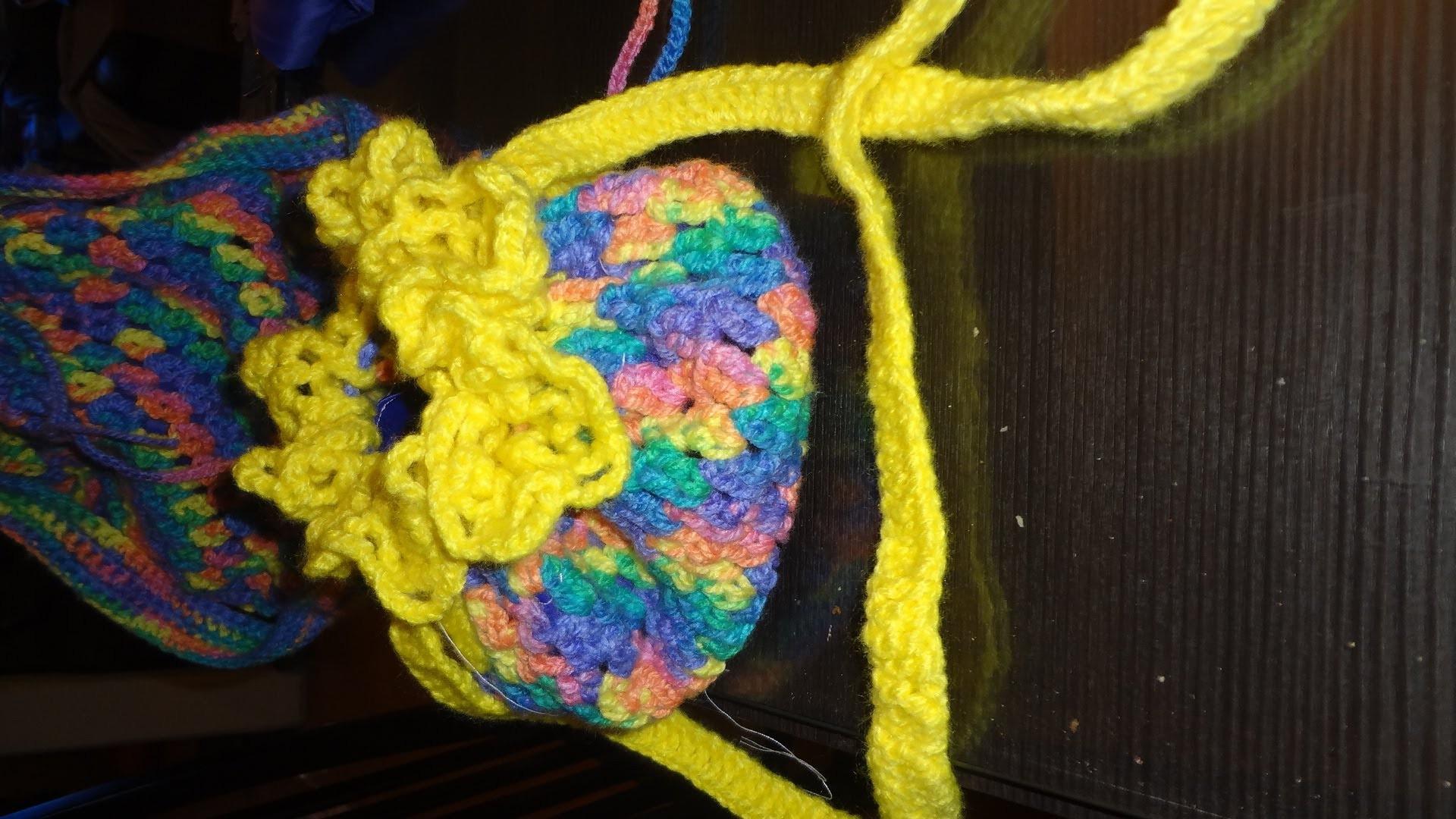 Como tejer una bolsa de colores con marimur  primera parte  439