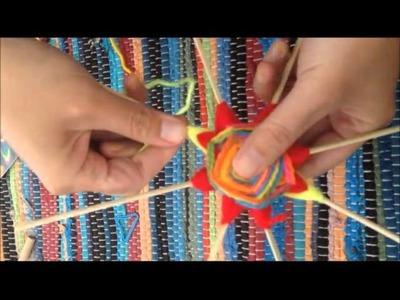 Continuación puntas en mandalas tejidos