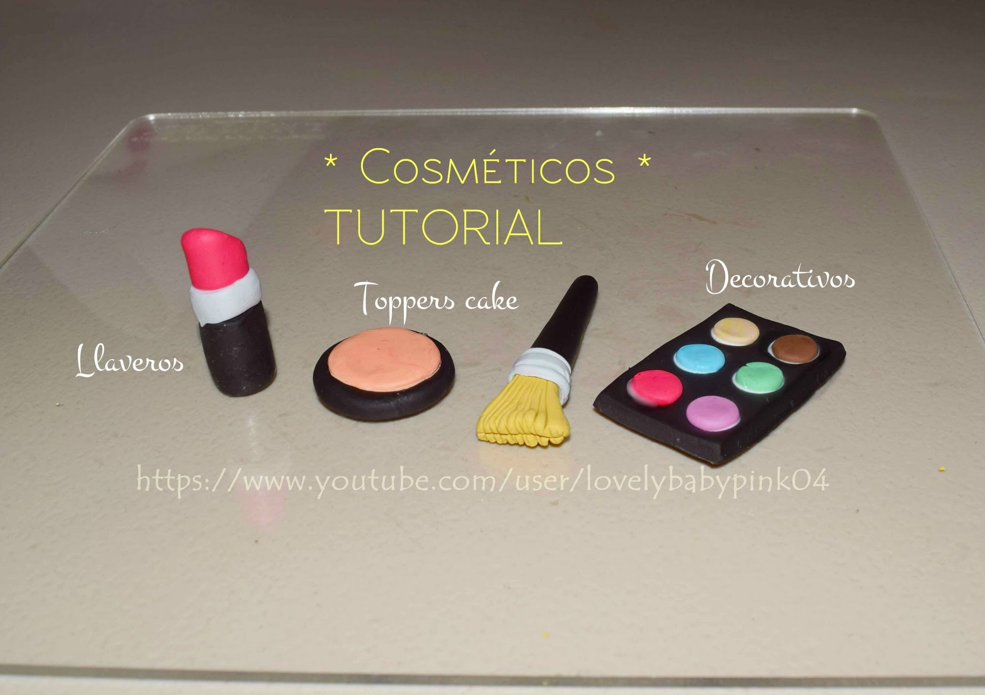Cosmeticos Decorativos - Manualidades figuras porcelana fría