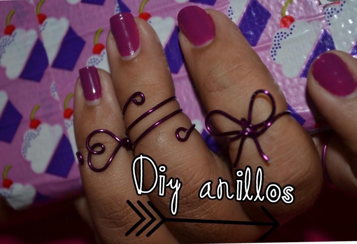 Diy- como hacer anillos. Diy easy to do wire rin