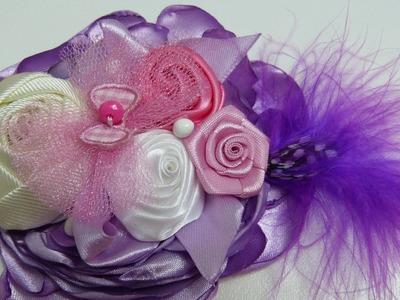 Diy Rosas de Liston Gros, para decorarcion de moños para el cabello