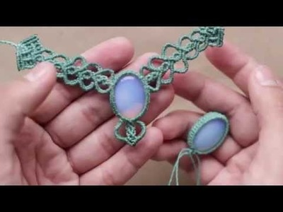 Engarce de piedra en macrame | collar macrame | how to wrap a stone