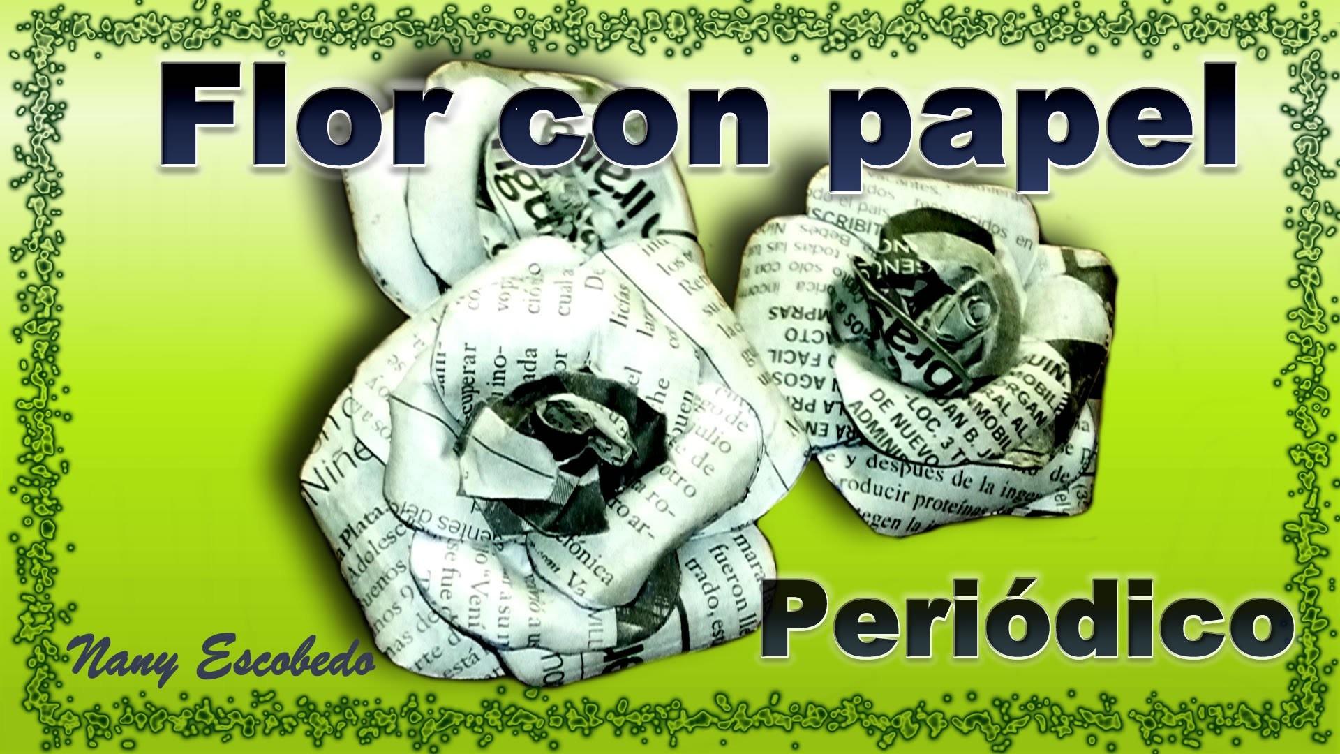 FLOR CON PAPEL PERIÓDICO