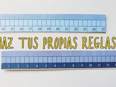 Haz tu propia regla para medir (Recursos para estudiantes)