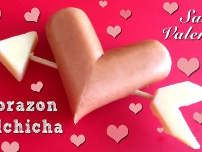 Receta para San Valentín: corazón de salchicha