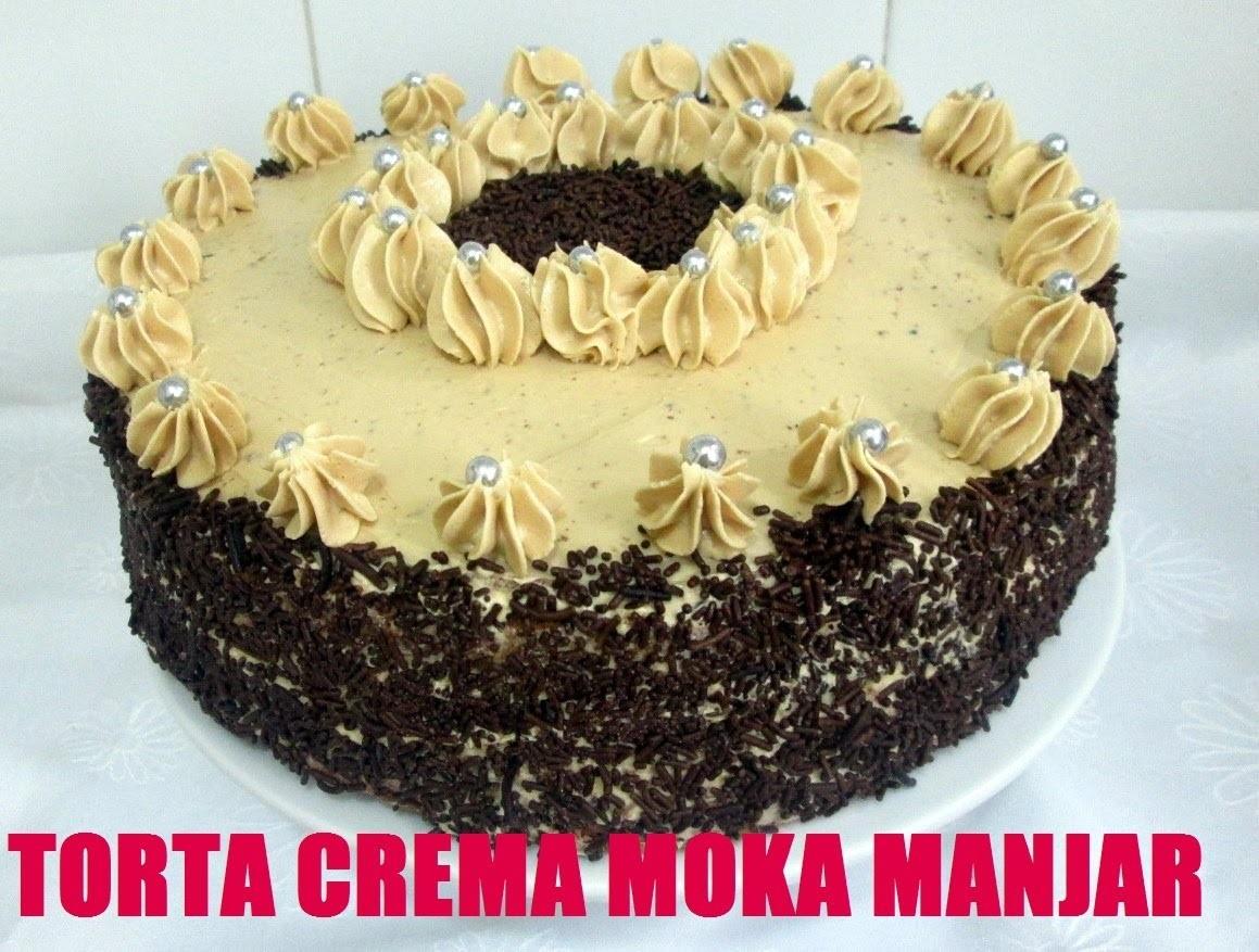 Receta: Torta Crema Moka Manjar (Cafe Y Dulce De Leche) - Silvana Cocina Y Manualidades