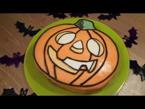 Recetas para Halloween - Tarta Halloween de Calabaza con Fondant Casero