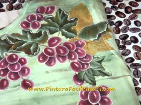 Tutorial Como Pintar Hojas de Parra en Tela 2 - Pintura Facil Para Ti.com.wmv