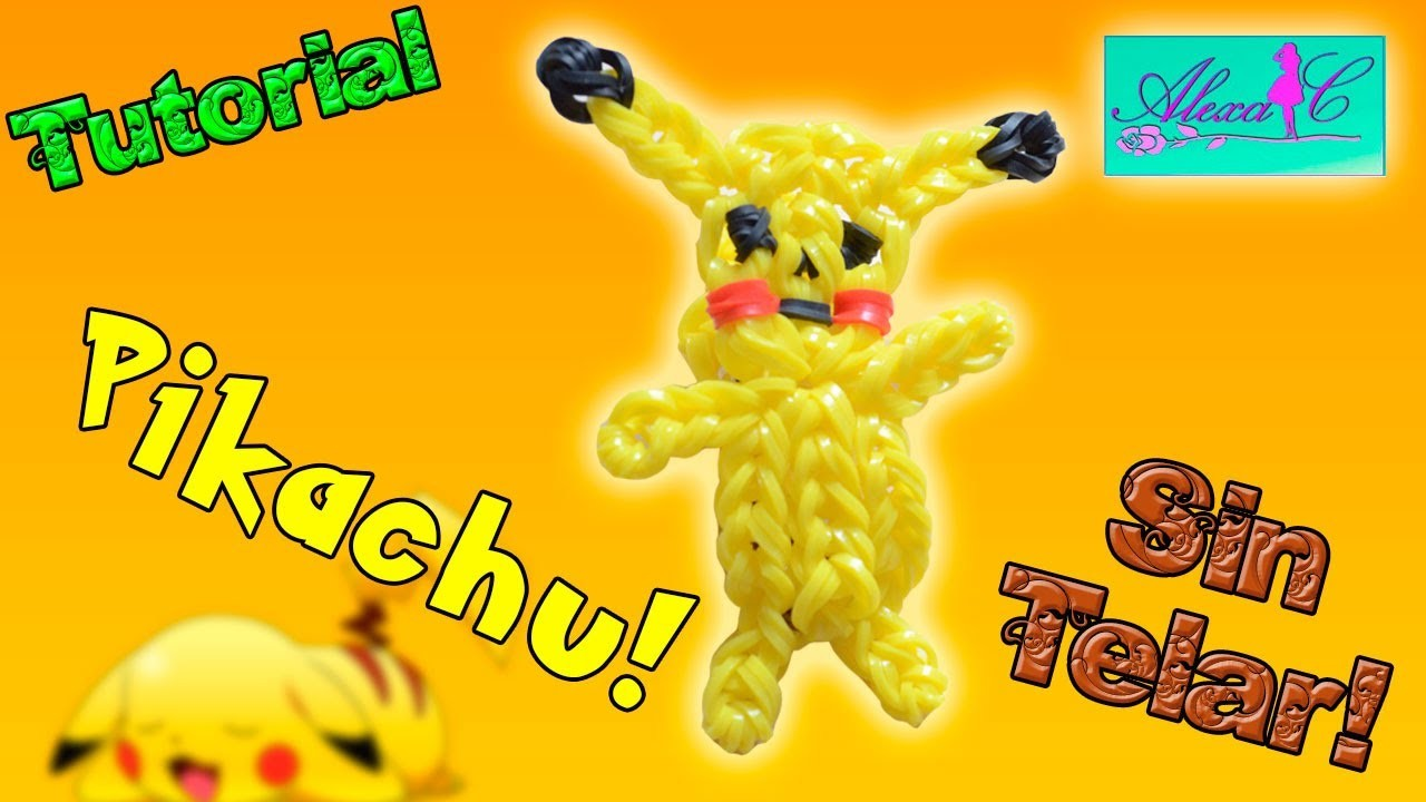 c0f05966e8b5 ♥ Tutorial: Pikachu de gomitas en 3D (sin telar) ♥
