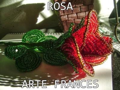 Arte Frances | Rosa Hechas con Mostacillas
