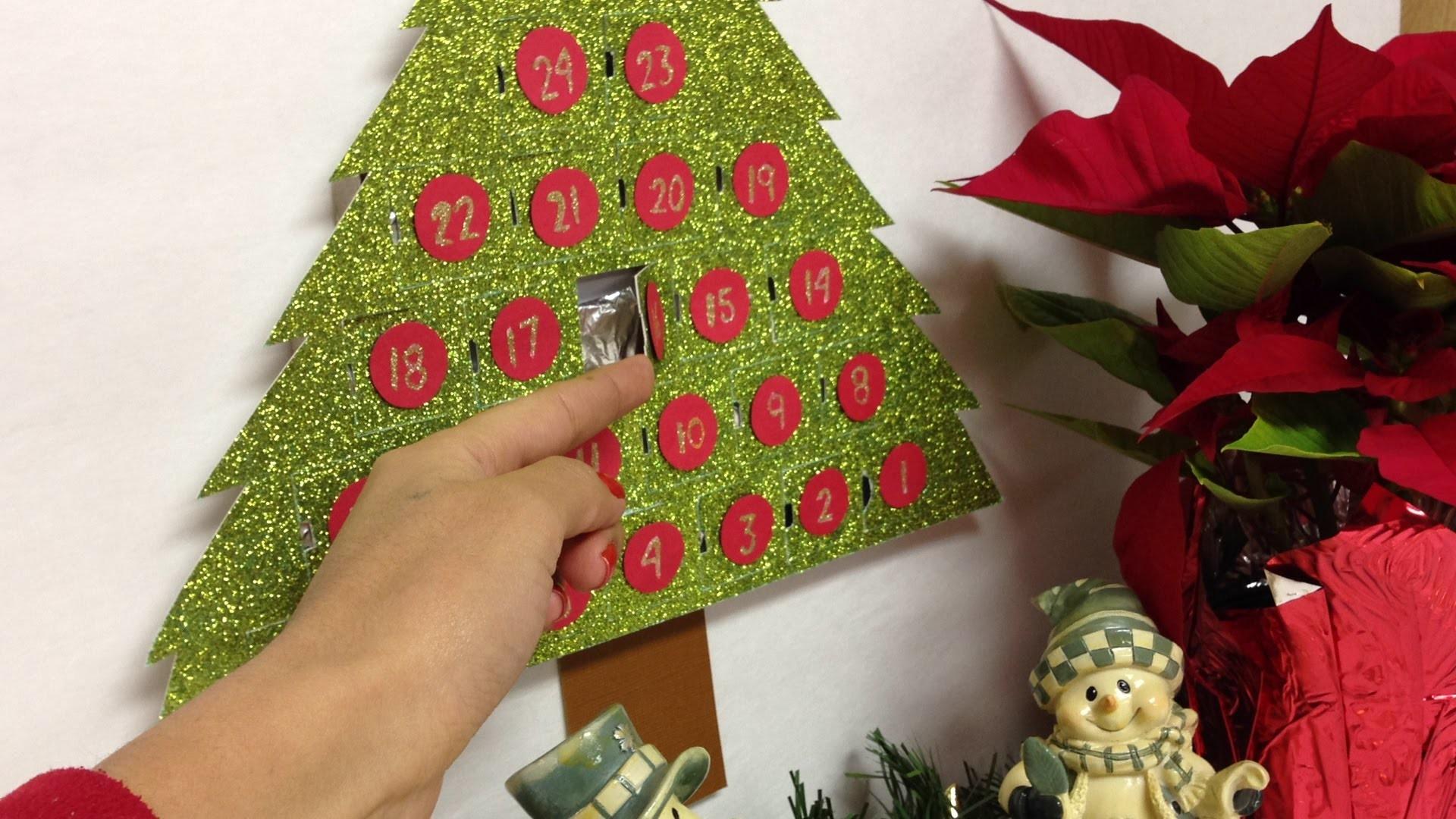 Calendario de navidad(regalo) con chocolates dentro