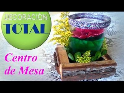 Centro de mesa con flores naturales para 15 años o boda