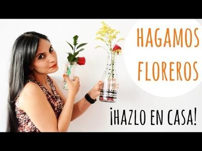COMO HACER 2 FLOREROS SIN GASTAR MUCHO DINERO ¡BELLÍSIMOS PARA TU HOGAR! - ♥Anyumara♥