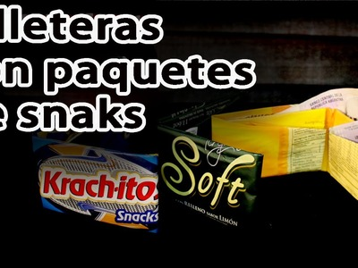 Como hacer billeteras con paquetes de snacks -Billeteras recicladas