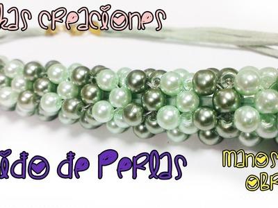 Como hacer un tejido en Perla para Collares : Pekas Creaciones