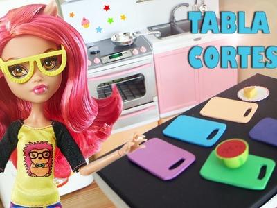Cómo hacer una tabla de corte para tus muñecas -  Manualidades para muñecas
